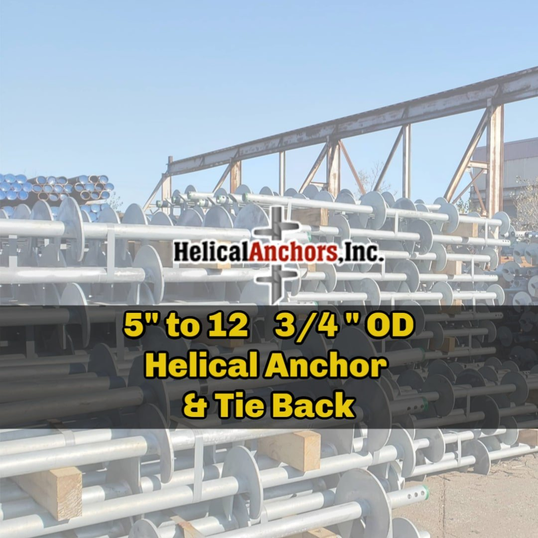 Large Size Helical Anchors and Large helical pile tieback