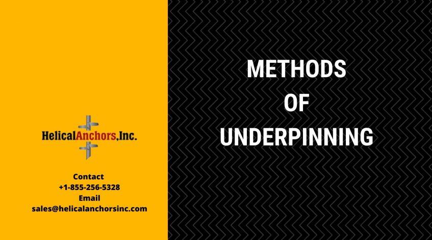 Methods of Underpinning