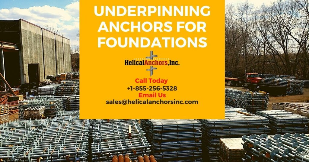 Underpinning Anchors For Foundations