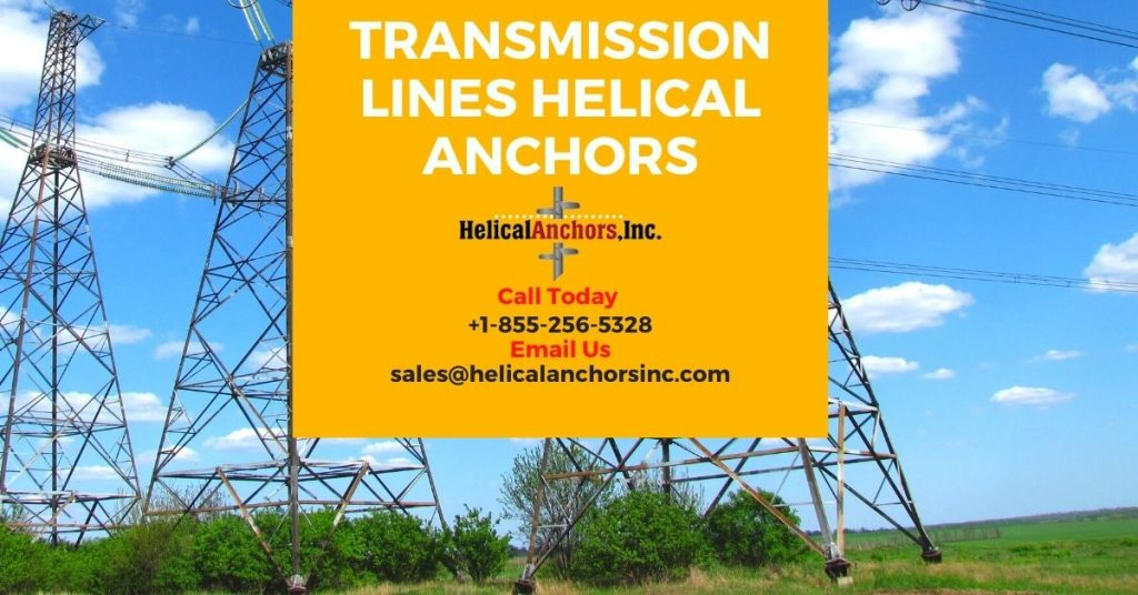Transmission lines helical anchors
